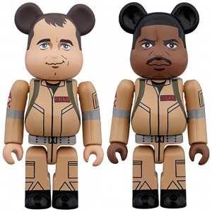 PREORDER - Medicom Ghostbusters Peter Venkman And Winston Zeddemor 100% 2 Pack Bearbrick Figure Set (tan)