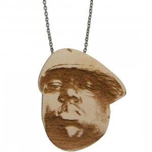 Good Wood NYC Chained Necklace - Biggie (natural wood)