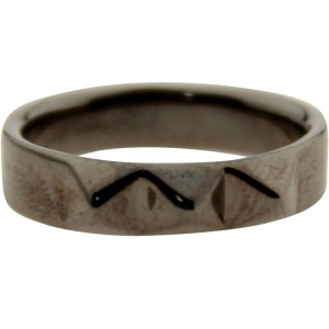 Han Cholo Baby Spike Ring (gray / gunmetal)