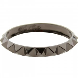 Han Cholo Single Row Spike Bangle - Shadow Series (gunmetal)