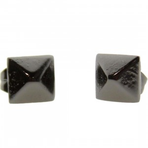 Han Cholo Medium Spike Stud Earrings - Shadow Series (gunmetal)