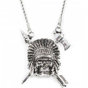 Han Cholo Indian Chief Necklace (silver)