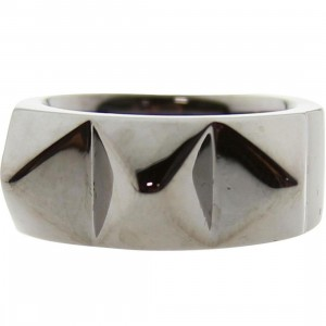 Han Cholo Big Spike Ring - Shadow Series (gunmetal)
