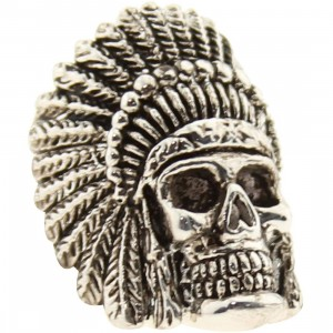 Han Cholo Indian Chief Skull Ring (stainless steel silver)