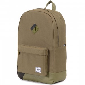 Herschel Supply Co Heritage Backpack (tan / army / black print)