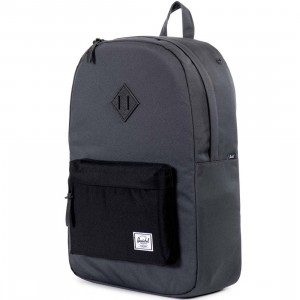 Herschel Supply Co Heritage Backpack - Poly (black / dark shadow)
