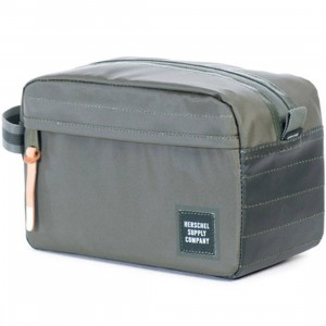 Herschel Supply Co Chapter Travel Kit (green / deep lichen green / kombu green polycoat)