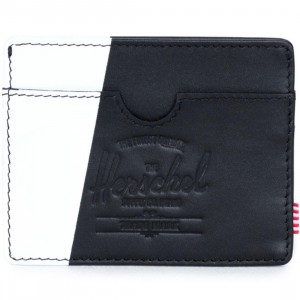 Herschel Supply Co Charlie Leather Wallet (black / white)
