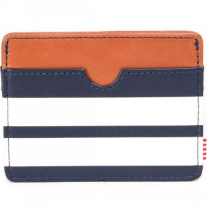 Herschel Supply Co Charlie Leather Wallet - Offset (blue / peacock)