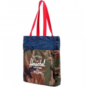 Herschel Supply Co Packable Travel Tote (camo / navy / red)