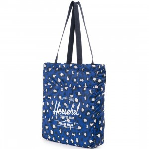 Herschel Supply Co Packable Tote Bag (blue / leopard)