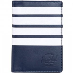 Herschel Supply Co Raynor Leather Wallet - Offset (blue / peacock)