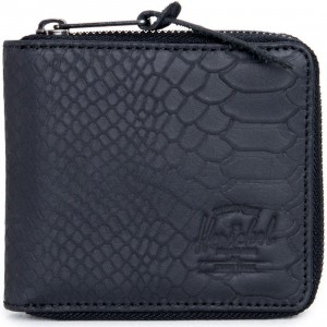 Herschel Supply Co Walt Leather Wallet (black / snake)