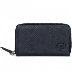 Herschel Supply Co Thomas Leather Wallet (black / snake)