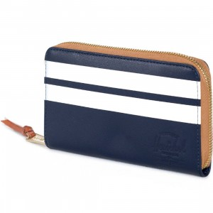 Herschel Supply Co Thomas Leather Wallet - Offset (blue / peacock)