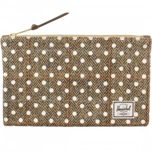 Herschel Supply Co Network M Pouch (tan / harris tweed white polka)
