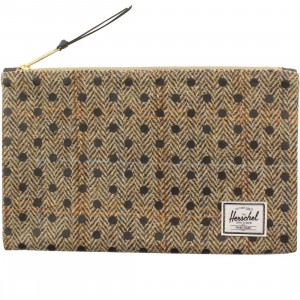 Herschel Supply Co Network M Pouch (tan / harris tweed black polka)