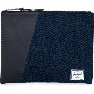 Herschel Supply Co Network Large Clutch - Harris Tweed Collection (brown)