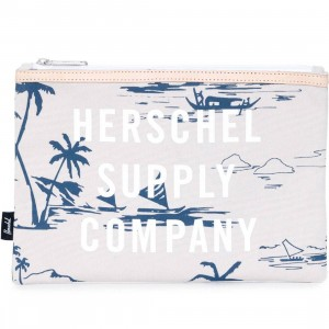 Herschel Supply Co Network Large Pouch - Sun Up (white / blue)