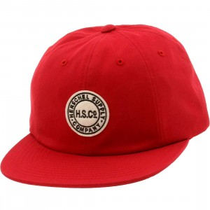 Herschel Supply Co Glenwood Cotton Cap (red)