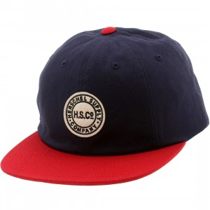 Herschel Supply Co Glenwood Cotton Cap (navy / red)