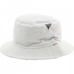 Herschel Supply Co Lake Bucket Hat (white / navy ging)