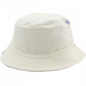 Herschel Supply Co Lake Bucket Hat (white / natural chambray)