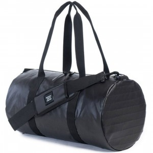 Herschel Supply Co Sutton Mid Volume Duffel Bag (black / pewter polycoat)