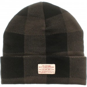 HUF Buffalo Plaid Beanie (black)