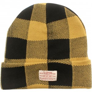HUF Buffalo Plaid Beanie (yellow / mustard)