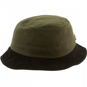 HUF Moleskin Bucket Hat (forest / green / black)
