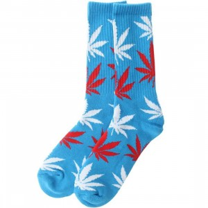 HUF Plantlife Crew Socks (blue / red) 1S
