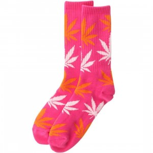 HUF Plantlife Crew Socks (pink / orange) 1S