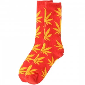 HUF Plantlife Crew Socks (red / yellow) 1S