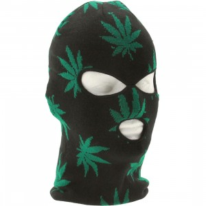 HUF Plantlife Ski Mask (black)