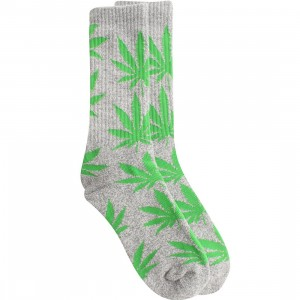 HUF Plantlife Crew Socks (grey / green) 1S