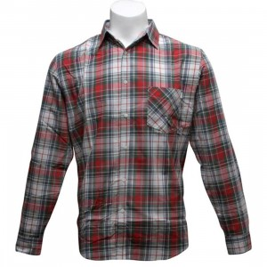 HUF Madras Woven Shirt (red / white)