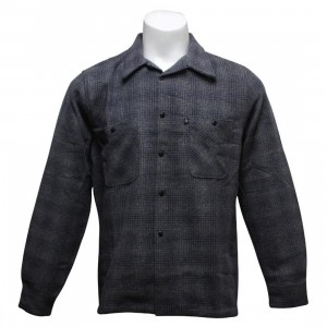HUF Wool Flannel Shirt (heather / navy)