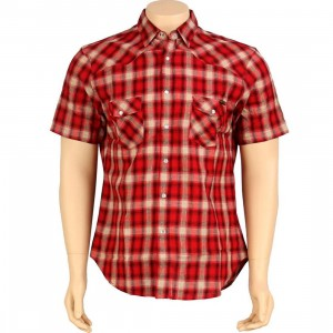 HUF The Shea Shirt (tan / red)