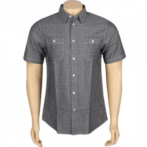 HUF Firefly Woven Short Sleeve Shirt (black)