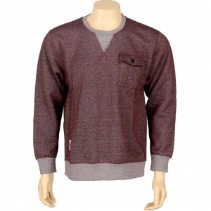 HUF Vintage Pocket Crew (burgundy)