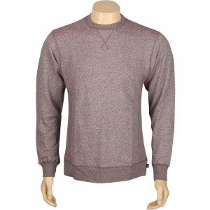 HUF Cadet Premium Crewneck (wine heather)
