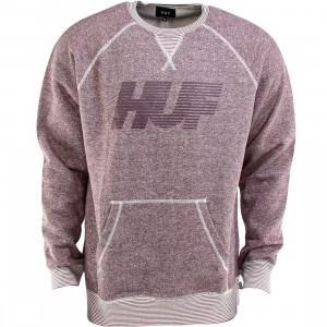 Huf Vintage 10K Crewneck (burgundy / heather wine)