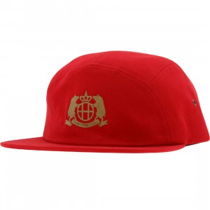 HUF Pigs Half Moon Volley Snapback Cap (red)