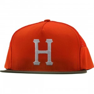 HUF Big H Side Mesh Snapback (orange)