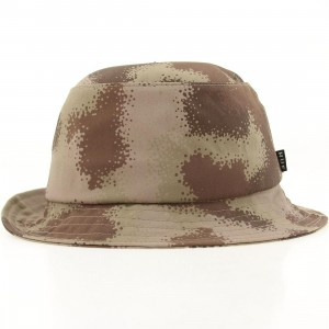 HUF Spray Camo Bucket Hat (desert camo)