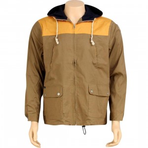 HUF Cotton Parka Jacket (tan / yellow)