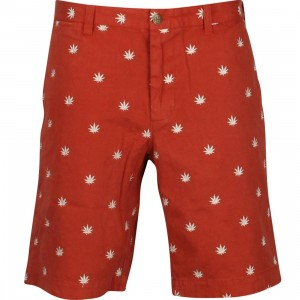 HUF Leaf Chino Walk Shorts (burnt orange)