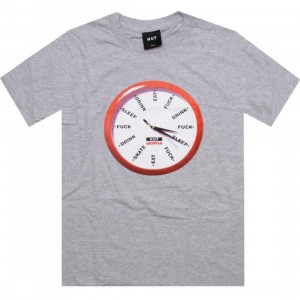HUF x Skate Mental Clock Tee (heather grey)