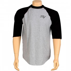 HUF Aces Raglan Tee (black / athletic heather)
